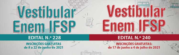 Enem IFSP 2º sem 2021 editais 1 e 2