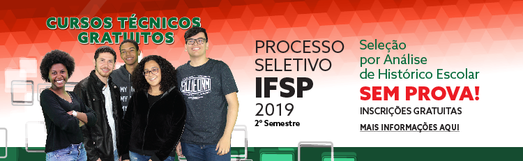 Processo Seletivo 2º semestre - 2019